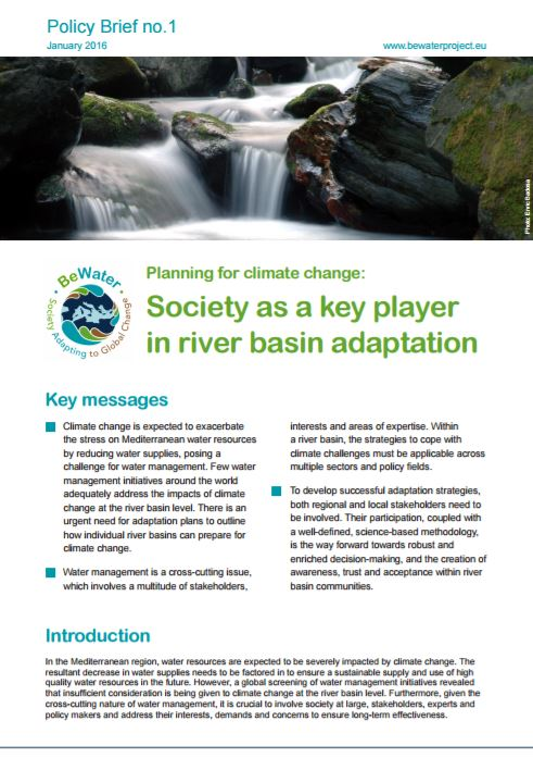 BeWater Policy Brief 1